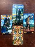 6Witch3 Pre Raphaelite Tarot - back of card with array