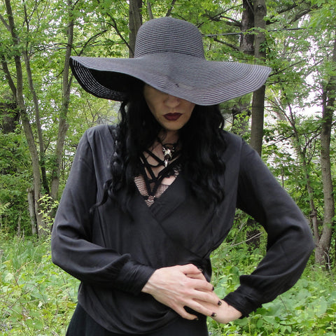 Wide Brim Witchy Sun Hat