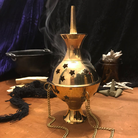 Brass Hanging Censer - 6""