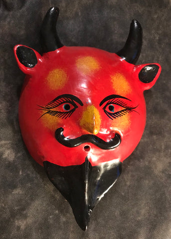 Mexican Devil Coconut Mini Mask