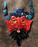 Mexican Tin Devil Head Ornament