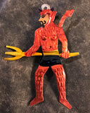 Mexican Tin Pitchfork Devil Ornament