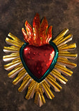Mexican Tin Sacred Heart Ornament
