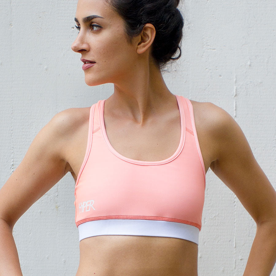Blush Racer Back Sports Bra for Women
