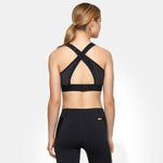 Butterfly Cross Back Black Sports Bra