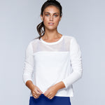 Dove Long Sleeve Cross-over Top for Women