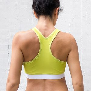 Lemon Racer Back Sports Bra for Women