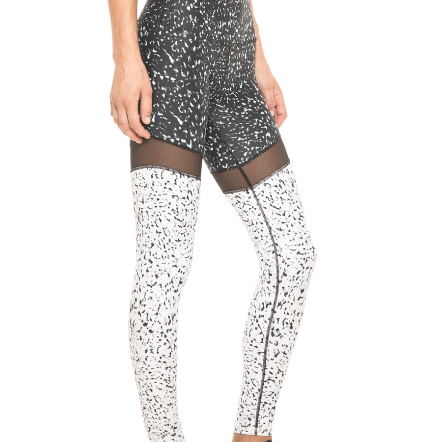 Silver Print Workout Leggings