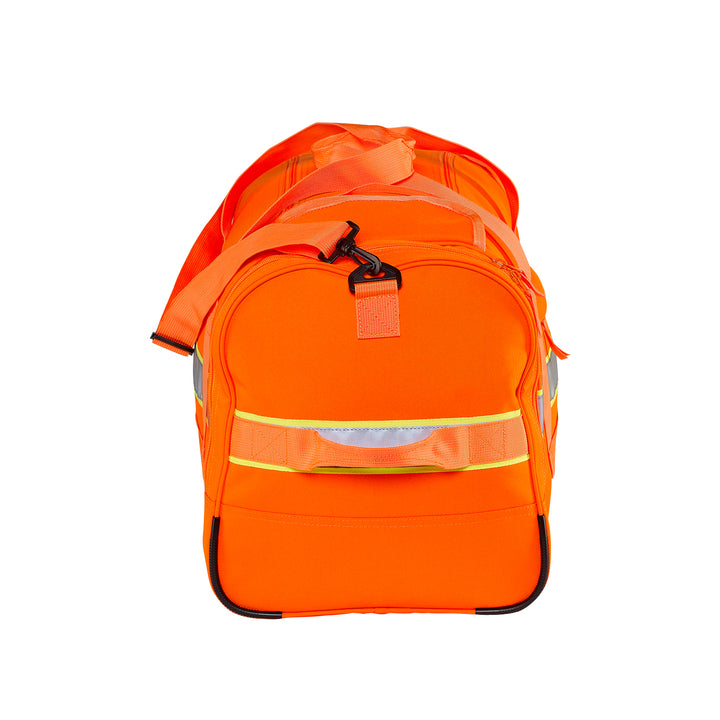 Caribee Bunker 60L Safety Gear Bag Orange end view