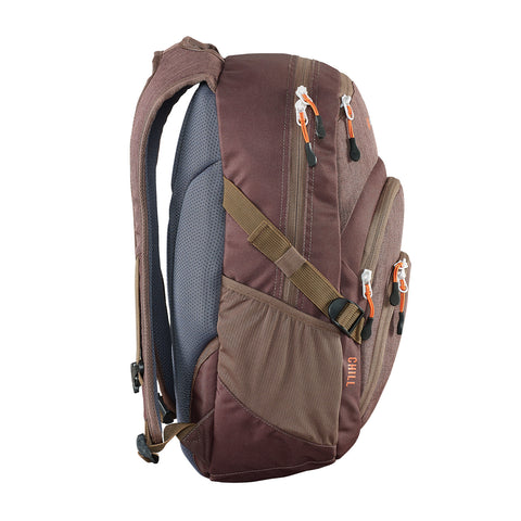 6109e9c752 Chill backpack Madder Brown side view