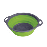 Folding collapsible camp colander