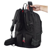 Caribee College 40L backpack's adjustable harness system method