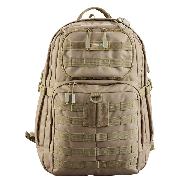 Caribee Combat 32L backpack sand front