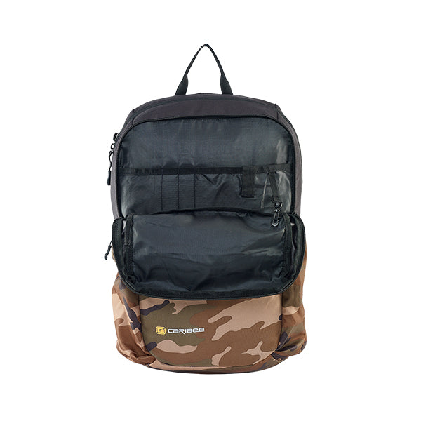 Caribee Cub backpack Camo open