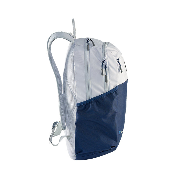 Caribee Cub backpack Snow/Navy side view