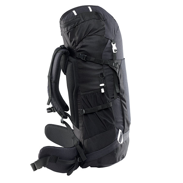 Caribee Frontier 65L Rucksack Black side view