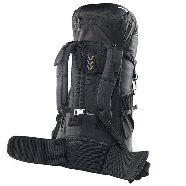 Caribee Frontier 65L Rucksack Black harness system