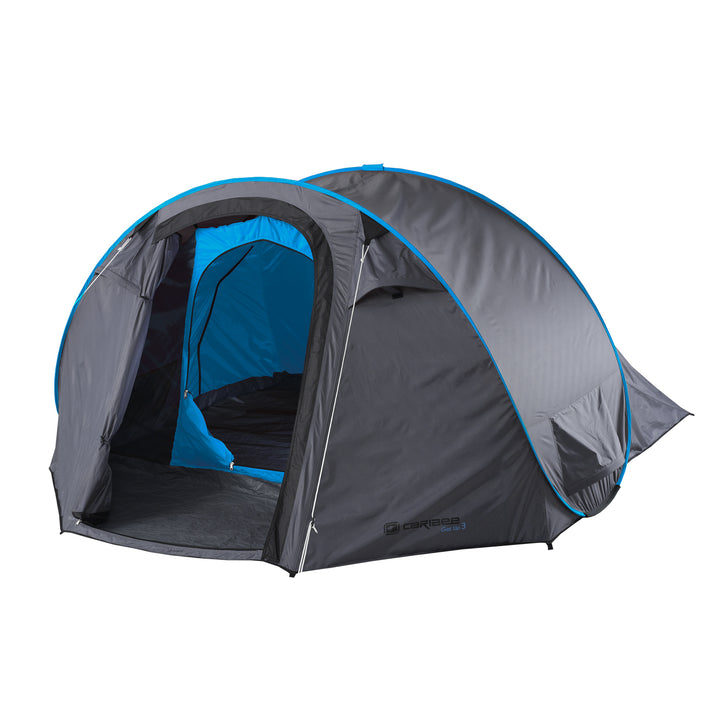 2022 Caribee Get Up 3 Person Instant Tent - Grey/Blue