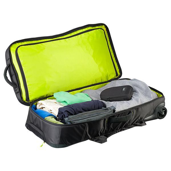 Caribee Global Explorer wheel travel luggage open