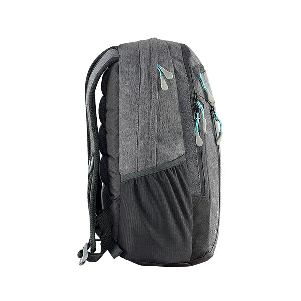 Caribee Hoodwink backpack Storm Black side profile
