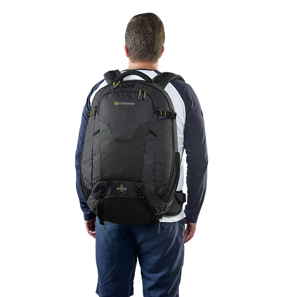 Caribee Intercity 50L travel pack on model
