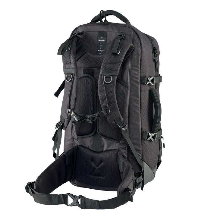 Caribee Intercity 65L travel backpack black harness