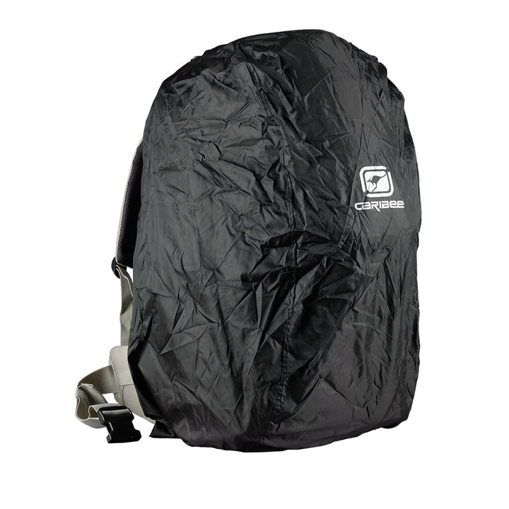Caribee Jet Pack 75L travel backpack rain cover