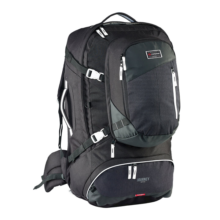 Caribee Journey 75L travel pack black front