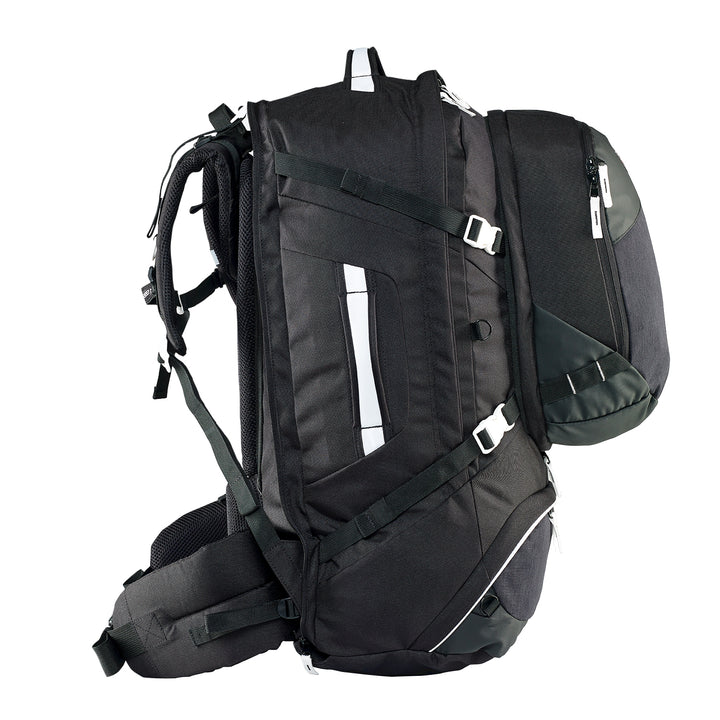 Caribee Journey 65L travel pack black side
