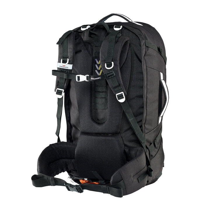 Caribee Journey 75L travel pack black harness
