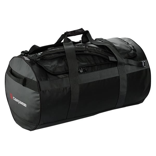 Caribee Kokoda 90L tarpaulin barrel bag black