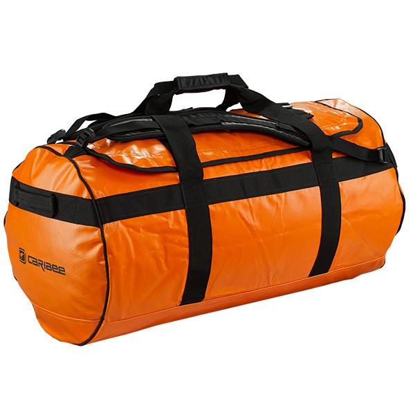 Caribee Kokoda 65L tarpaulin barrel bag orange