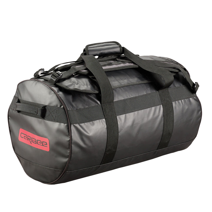Caribee Kokoda 65L tarpaulin barrel bag black