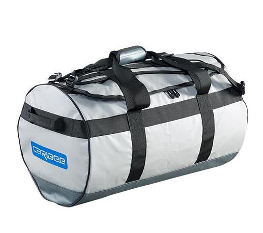 Caribee Kokoda 90L tarpaulin barrel bag grey