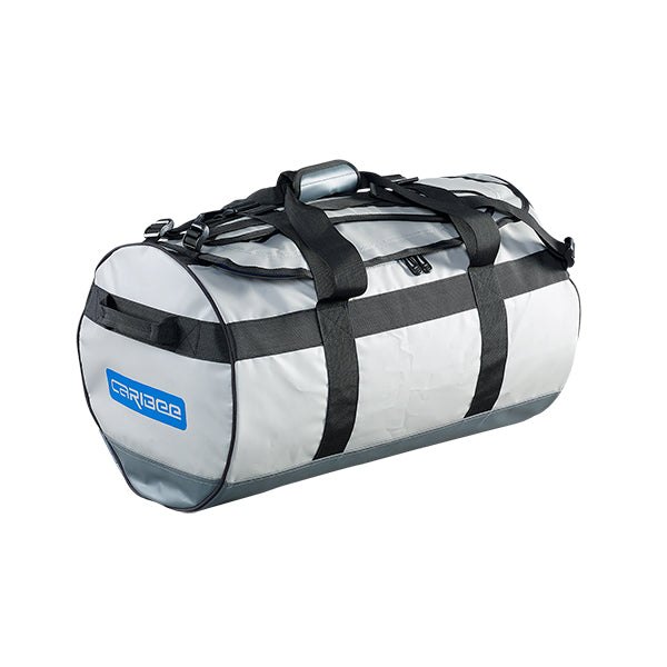 Caribee Kokoda 65L tarpaulin barrel bag grey