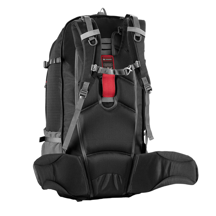 Caribee Magellan 75L travel backpack harness