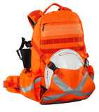 Caribee Mineral King backpack orange with helmet holder