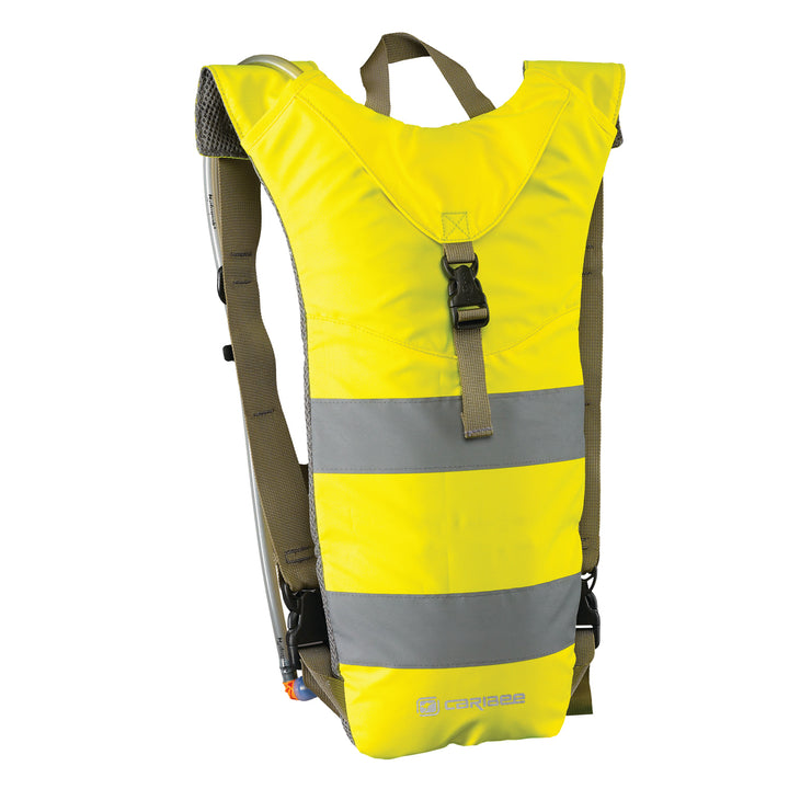 Caribee Nuke Hi Vis 3L hydration backpack yellow