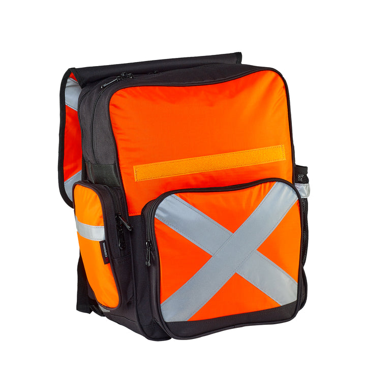 Caribee Pilbara safety backpack orange open