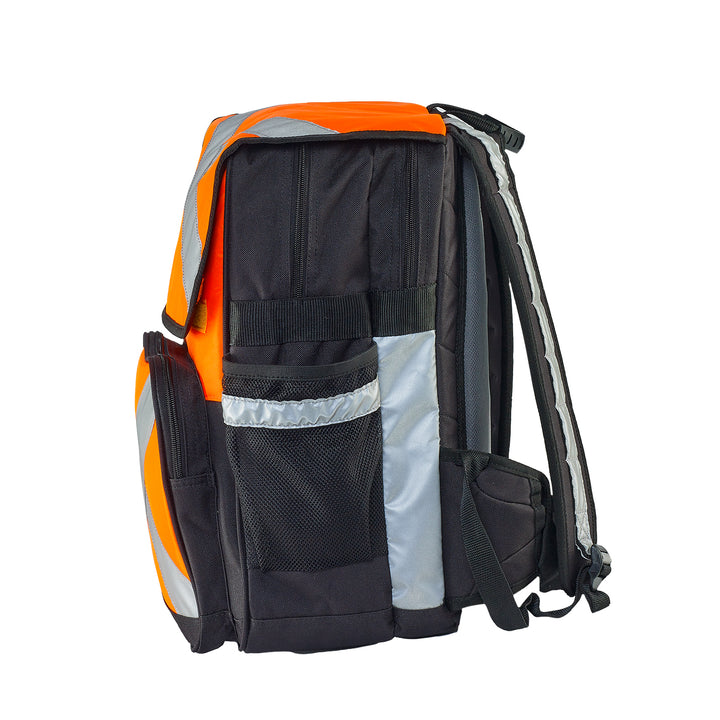 Caribee Pilbara safety backpack orange side view