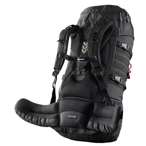 Caribee Pulse 65L Rucksack black adjustable harness
