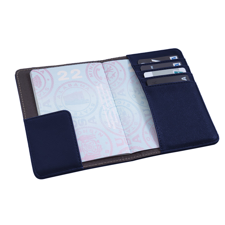Caribee RFID Blocking Passport cover blue