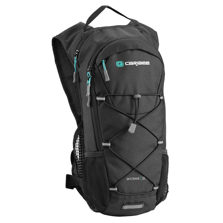 Caribee Skycrane 2L hydration backpack in Black