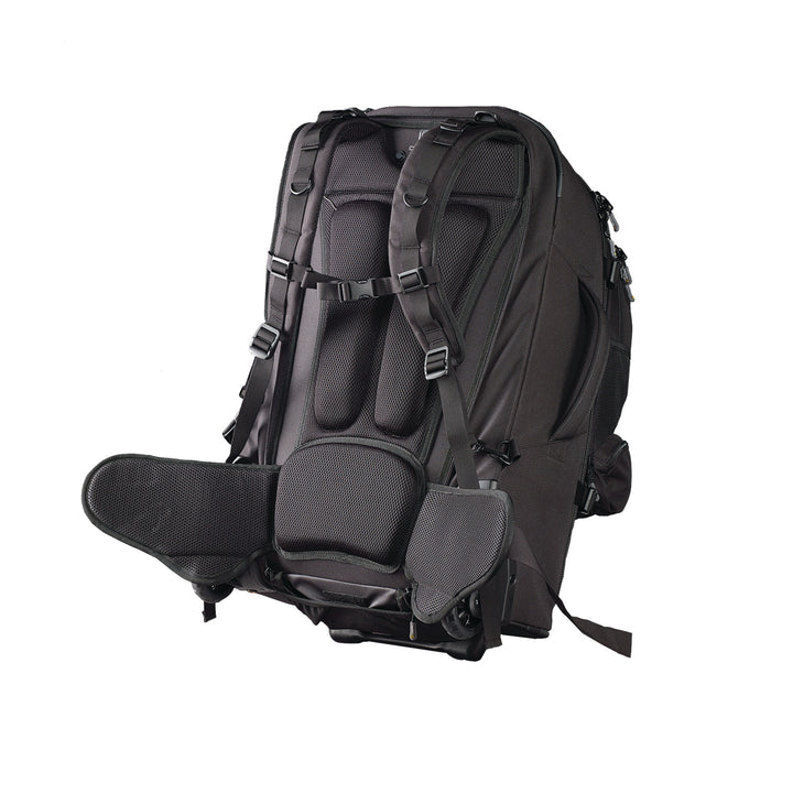 Caribee Sky Master 70L wheel travel backpack harness system