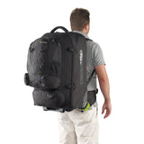 Caribee Sky Master 80L wheel travel backpack on model