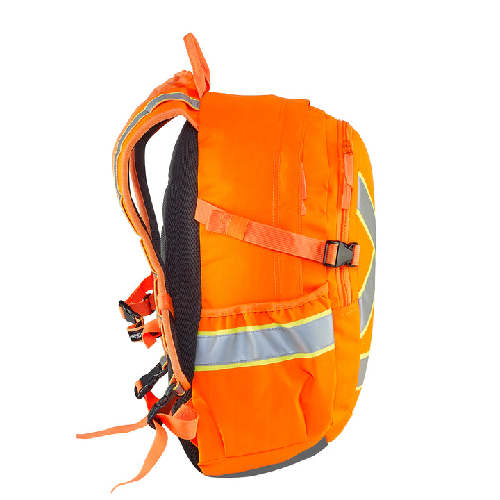 Caribee Switch Back D/N Safety Backpack - Orange side view