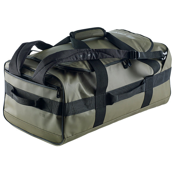 Caribee Titan 50L Gear Bag Olive with shoulder straps