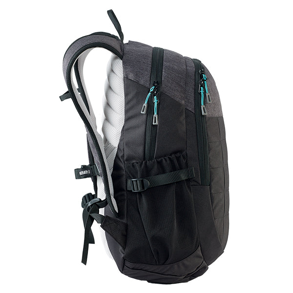 Caribee Triple Peak 28 backpack black side profile