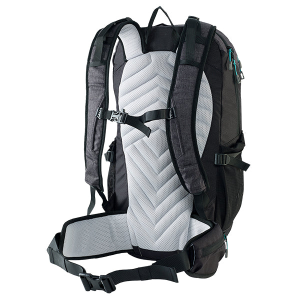 Caribee Triple Peak 34 backpack black back system
