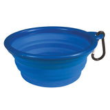 Folding camp bowl small blue